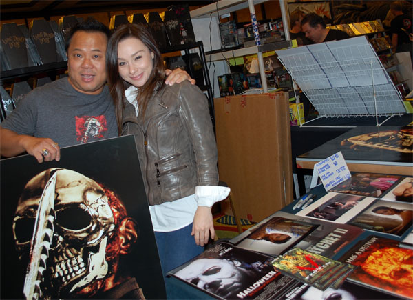 Chang Tseng and Danielle Harris at Creation Weekend of Horror 2011