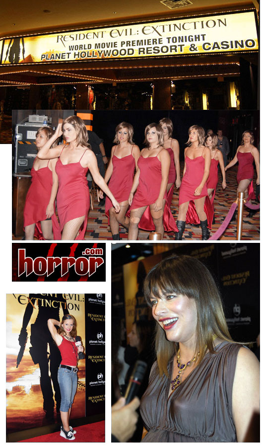 Horror.com attends the red carpet of Resident Evil 3 in Las Vegas